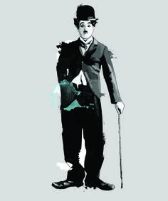 Charlie Chaplin, Tinted Style   http://www.yourpainting.de/motive-artikel/charlie-chaplin