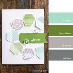 Pool Party, Gumball Green, Smoky Slate, Basic Gray #StampinUpColorCombos
