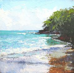 Noosa Heads Main Beach Queensland Australia Painting  - Noosa Heads Main Beach Queensland Australia Fine Art Print