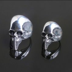 Harkonnen ring, based on the drawings of HR Giger. Sterling silver.