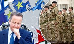 EU ARMY MOVES STEP CLOSER: MEP says Brussels defence force 'only way' to protect Europe  FEARS that Britain will be forced to join an EU army if the country votes to stay tied to Brussels will intensify today when a senior MEP declares his support for the idea.