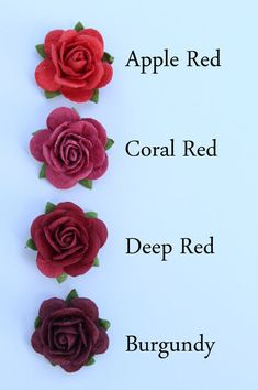 Red rose flower embellishments – decorations for favors, cards, thank you tags, gift tags, wedding decorations and more – Best Wedding Ceremony Ideas Red Rose Flower, Red Roses, Blue Flower Tattoos, Blue Roses Wedding, Color Mixing Chart, Color Combinations For Clothes, Color Psychology, Psychology Meaning, Inspiration Tattoos