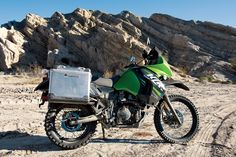 Kawasaki KLR650 - on location