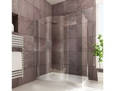 The Curved Walk-In Shower Enclosure boasts an impressive toughened safety glass and a high shower tray Walk In Shower Enclosures, Floor Ceiling, Kitchen Doors, Safety Glass, Bathroom Furniture, Accent Colors, Master Bathroom, Bathtub, Curtains