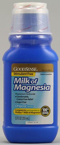 Good Sense Milk of Magnesia Original -- 12 fl oz Nutritional Supplements, Weight Loss Supplements, Organic Recipes, Sugar Free, Vitamins, Low Carb, The Originals, Healthy, Food
