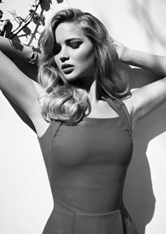 Jennifer Lawrence:: Retro Pin Up Inspired Photos:: Hollywood Pin Up