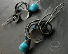 Earrings are totally made of oxidized silver 925, Baltic amber and chrysoprase  Dimensions: Length: 1.89 (4,8 cm) Stones: 0.47 - 1.26 (12-32 mm)  Single earrings weight : 7,05 g  Ready to ship  We pack all the items in corporate boxes (visible in some offers). We ship all the consignments as priority registered consignments in well protected cartons. Thank you for visiting