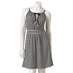 ELLE Striped Dress