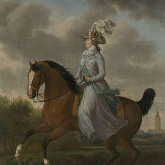"""Frederika Sophia Wilhelmina of Pruissia (1751-1820), Wife of Prince Willem V,"" Tethart Philip Christian Haag, 1789; Rijksmuseum SK-A-1225"