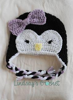 Penguin Beanie by LindsaysCrochet on Etsy, $22.00