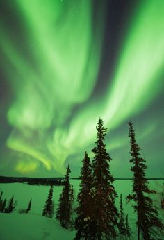 Northern Lights in Northwest Territories, Canada
