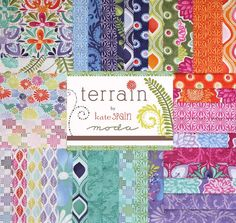 I'd love a quilt out of this fabric! :)  'Terrain' by kate spain for Moda layer cake :) I am a real Moda fabric fan