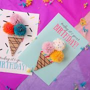 Birthday cards, diy birthday, paper cards, paper crafts for kids, diy for k Unique Birthday Cards, Birthday Card Sayings, Girl Birthday Cards, Bday Cards, Handmade Birthday Cards, Diy Birthday, Birthday Gifts, Paper Crafts For Kids, Diy Crafts