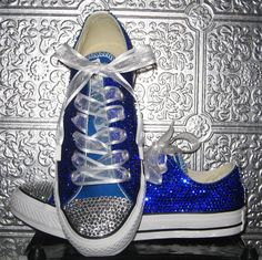 converse/ rhinestone converse/ converse bling/ converse all star/ custom converse/ pink converse/ wedding shoes/ converse with ribbon laces Bedazzled Converse, Rhinestone Converse, Converse Wedding Shoes, Glitter Converse, Wedding Sneakers, Prom Shoes, Custom Converse, White Converse, Women's Converse