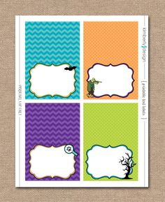SCOOBY DOO BIRTHDAY - Boy Birthday - Blank Tent Labels - Instant Download