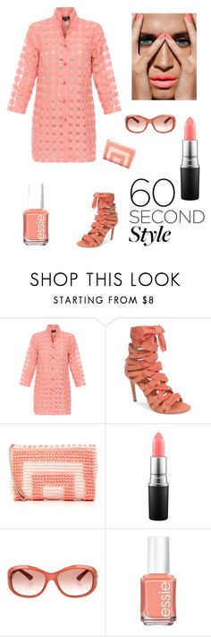 """""""Summer"""" by kotnourka ❤ liked on Polyvore featuring Daya, Antonello, MAC Cosmetics, Fendi, Essie, tshirtdresses and 60secondstyle"""