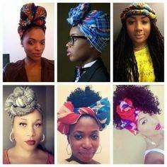 Idées coiffures cheveux crépus: Attaché foulard aka Headwrap