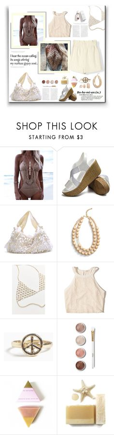 """""""Body Chains"""" by peony-and-python ❤ liked on Polyvore featuring The Row, Ink + Alloy, 8 Other Reasons, Hollister Co., Terre Mère and Herbivore"""