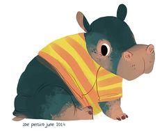 Heavy Hippo & Cutesy Croc by Zoe Persico, via Behance