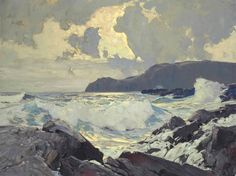 SHEAR [in-spuh-rey-shuhn], FREDERICK JUDD WAUGH Winds And Seas Oil on Canvas...