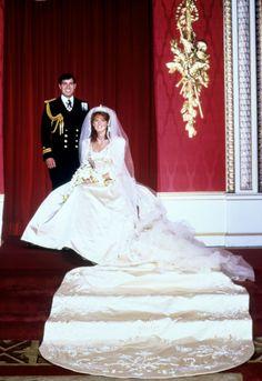 wedding of Prince Andrew to Sarah Ferguson on July 23rd, 1986