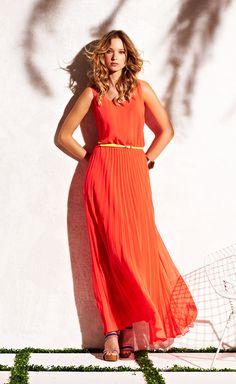 CATCH MY DRIFT from Tommy Hilfiger USA summer dresses, maxi dresses, bridesmaid dresses, dress fashion, the dress, orang maxi