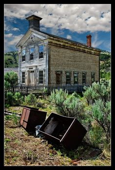 Bannack-school-house-ghost town, Montana