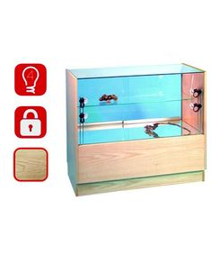 1000mm Wooden Sided Glass Display Counter-PR-5002-31