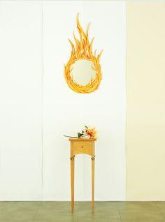 Flame Gallery art mirror...