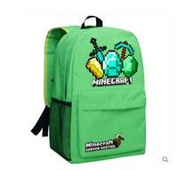 Minecraft Creeper Backpack  polyester fibre Style Backpack Color B ca045f252e645