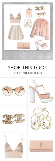 """""""Scream Queens Inspired Outfit #2"""" by marialiapi on Polyvore featuring Polaroid, The Row, Miu Miu, Balenciaga, Chanel, T By Alexander Wang, Yves Saint Laurent, Acne Studios, outfit and ScreamQueens"""