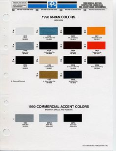 GM Color Chips | Color Chip Selection