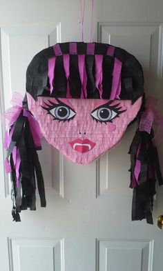 Draculaura pinata made by myself at Outside the Lines Art Studio.