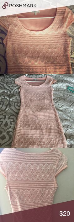 Super cute dress Super cute pink dress ! Charlotte Russe size small!  Great win nude heels! Charlotte Russe Dresses