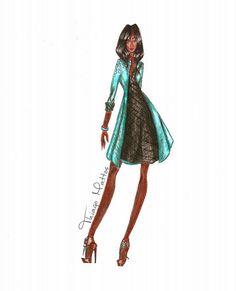 Negra <3   #Croqui #Moda #design #Draw