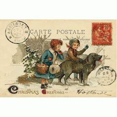 Vintage Christmas - Christmas cards   British Red Cross gift shop