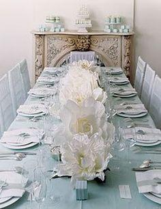 duck egg blue & white table