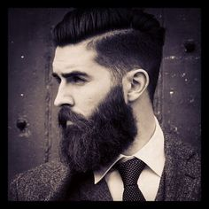 Chris John Millington - beautiful black full beard thick nice shape so handsome mustache beards bearded man men undercut suit #sharpdressedman #beardsforever