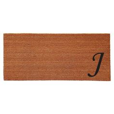 Home & More Monogram Doormat, Black