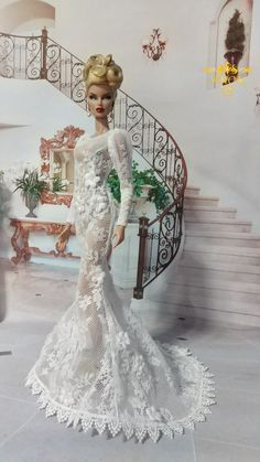 AMON DESIGN Gown Outfit Dress Fashion Royalty Silkstone Barbie Model Doll FR - $59.99 | PicClick
