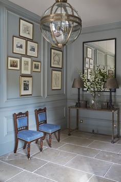 Stone floor-New Forest Manor House Interior Design House Design, Interior, Georgian Interiors, Interior Architecture, Bedroom Interior, Foyer Decorating, Home Decor, House Interior, Home Interior Design