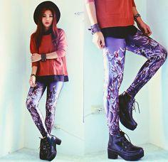 Underworld Leggings http://store.lovelysally.com/collections/leggings/products/underworld-leggings #lovelysally #underworld