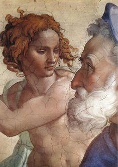 ❤ - MICHELANGELO BUONARROTI - (1475 - 1564) - Sistine Chapel - Seven Prophets - Ezekiel (detail).