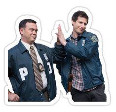 "jake & charles"" Stickers by dsetiel Meme Stickers, Tumblr Stickers, Printable Stickers, Laptop Stickers, 100 Emoji, Joey Tribbiani, John Mulaney, Michael Scott, Ross Et Rachel"