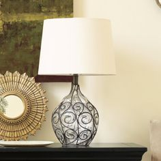 "Marrakesh Onion Table Lamp. Overall: 20""H X 13"" Diameter $129"