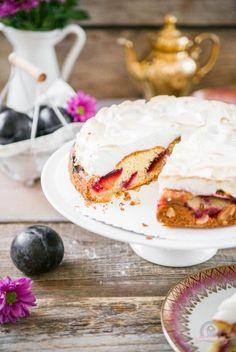 Pflaumenkuchen mit Baiserhaube - Das Küchengeflüster