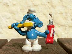 An oral hygiene conscious smurf! #oral hygiene