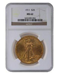 1911 NGC MS62 Saint Gaudens $2060.00