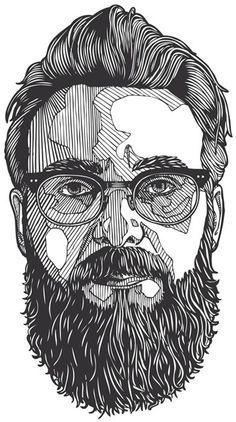 Bloody love #VectorArt .. #Beard ..