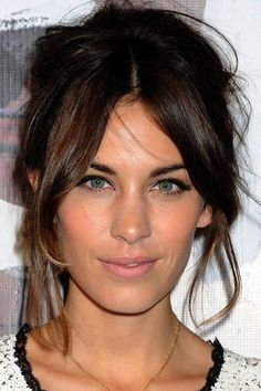 Do the Parted Fringe Updo for Mid-Length Hair